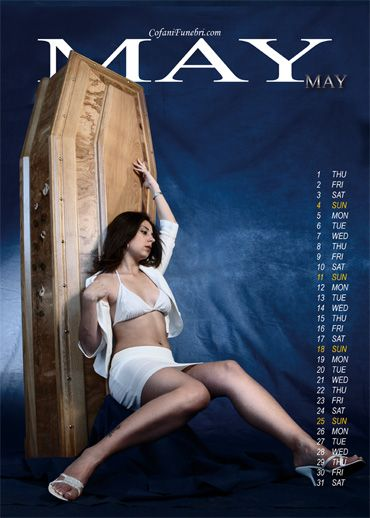 A calendar with girls and coffins (13 photos)
