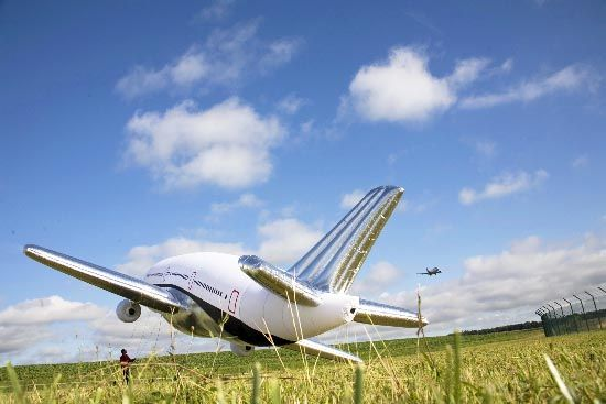 An inflatable plane (42 photos)