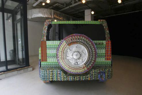 This Hummer is built from $35,000 losing lottery tickets (9 photos)