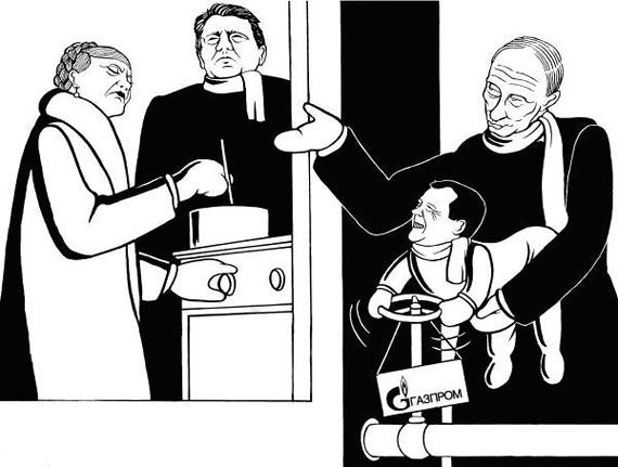 Gas crisis through the eyes of Europeen caricaturists (13 photos)