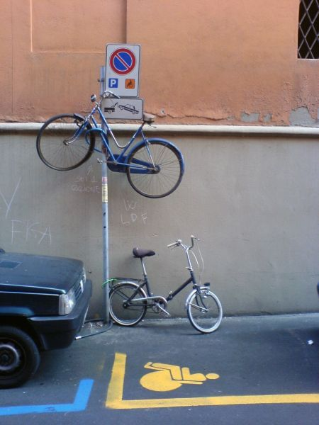 Unusual parking space for bicycles (20 photos)