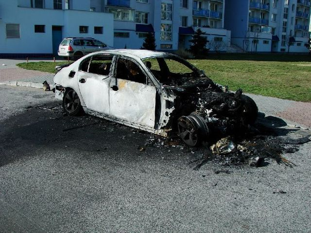 Horrible! Burned cars (9 photos)