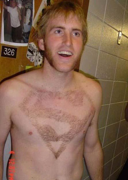 Funny chest haircuts (13 photos)