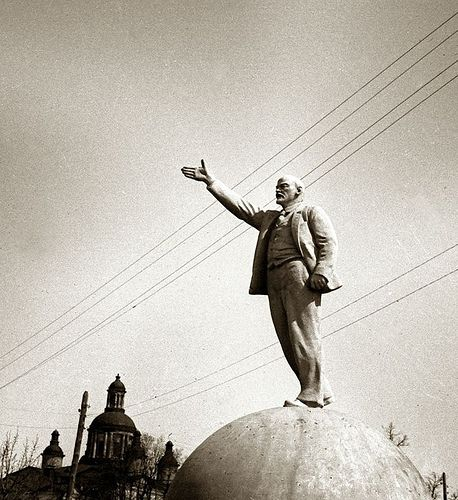 Lenin on the ball (6 photos)