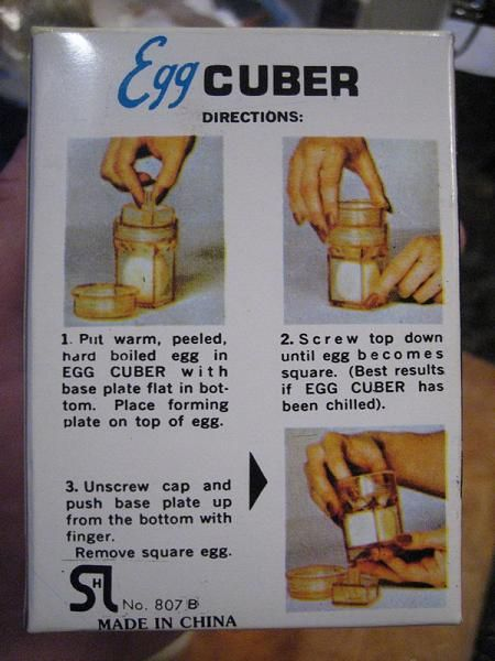 Egg cuber -Makes a square egg (7 photos)