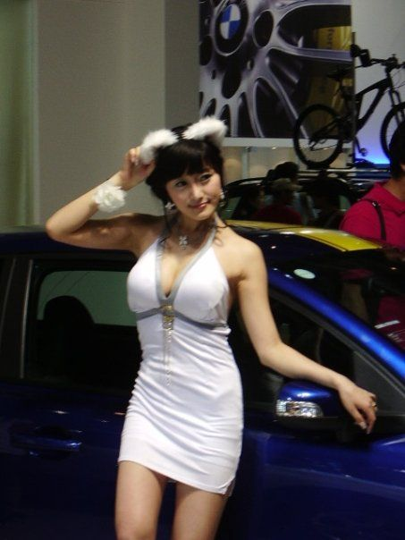 Girls from Korean auto shows (16 photos)