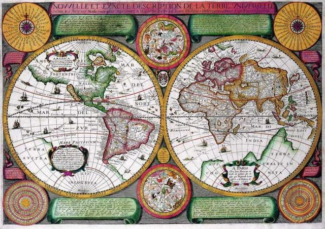 Antique maps of the world (22 photos)