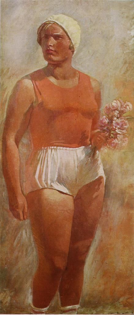 Soviet women drawn by Soviet painters (15 photos)