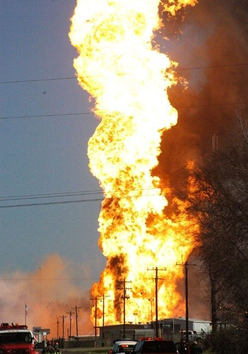 Gas explosion in Texas (5 photos)