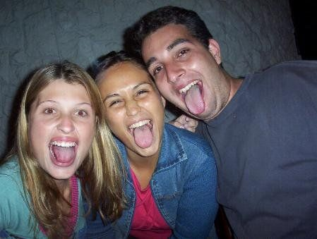 Show your tongue. Excellent photo series (40 photos)
