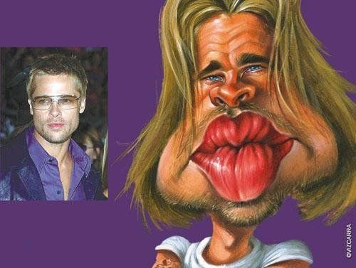 Superb celebrity caricatures (8 photos)