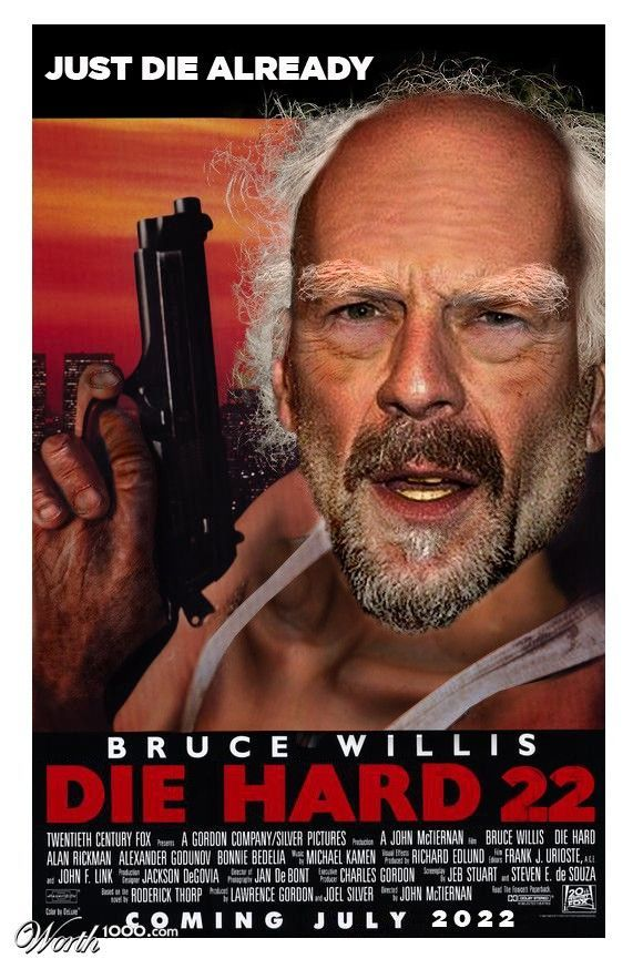Funny photomontage – Posters with aged cinema heroes (32 photos)