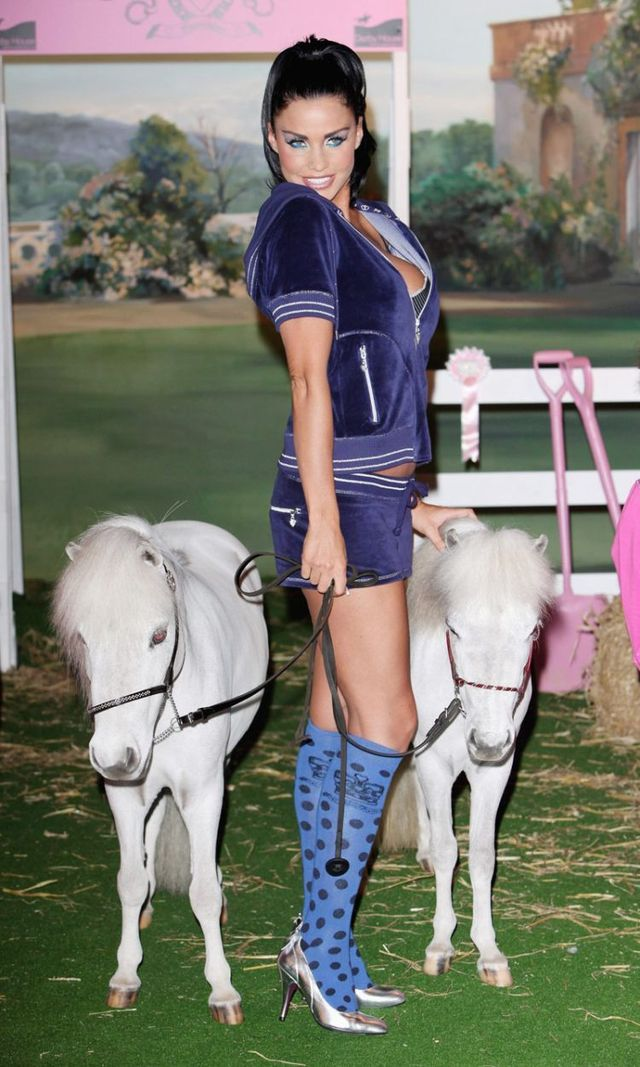 Nice Katie Price's photo shoot with two ponies (16 photos)