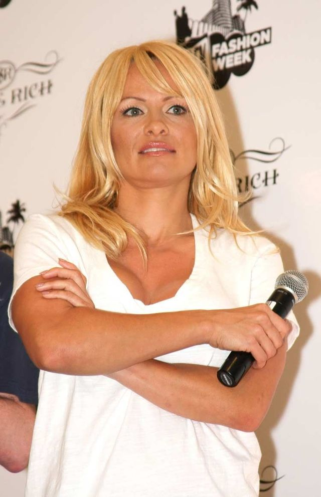 It looks like plastic surgeons worked hard on Pamela Anderson (6 photos)