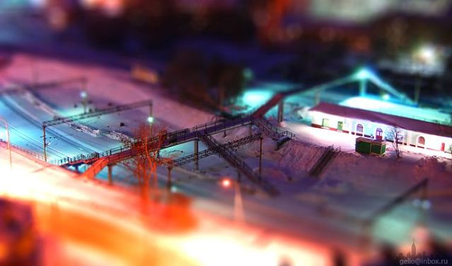 Russian city Novosibirsk with tilt-shift effect (41 pics)