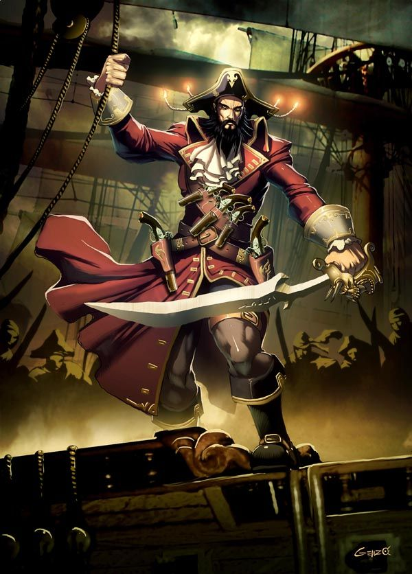 Really cool illustrations of Pirates (21 pics)