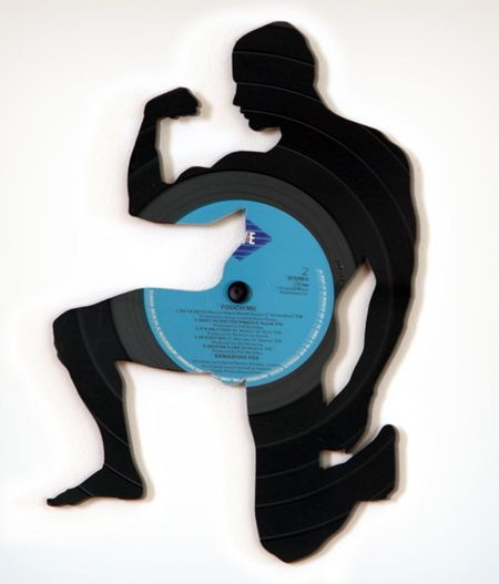 Art with vinyl records (14 pics)