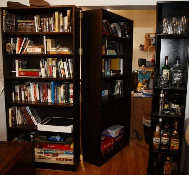 Hidden Room Behind A Bookcase