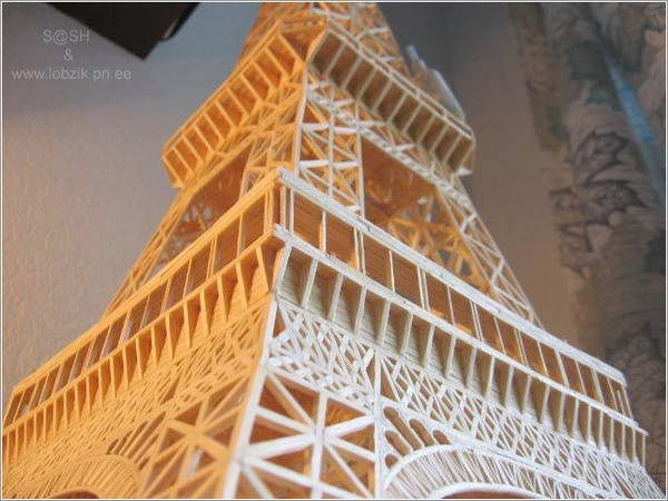 Eiffel Tower with matches (11 pics)