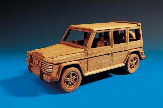 Модели машинок  из дерева
