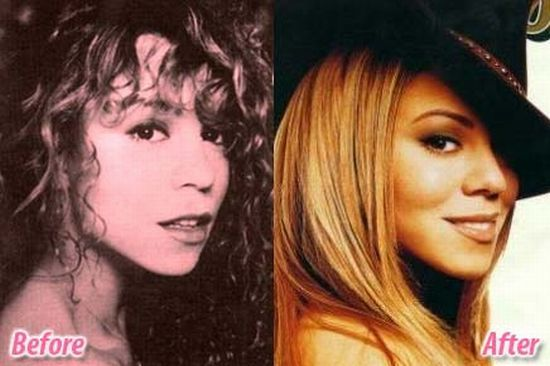 Mariah Carey before and after plastic surgery? (image hosted by izismile.com)