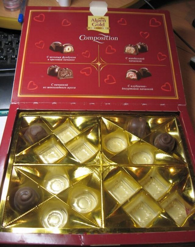 food pictures guy finding nasty surprise box chocolates chocolates stumbling