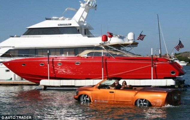 The Python – a 60mph luxurious amphibious car (5 pics + 1 video)