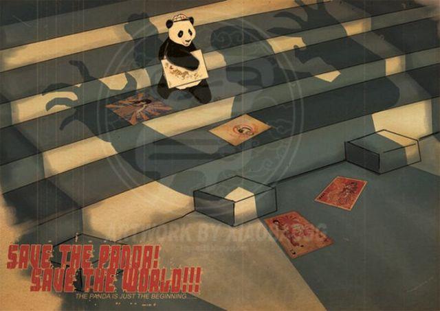 Güzel Panda Çizimleri