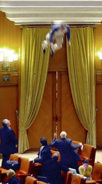Shock in the Parliament of Romania
