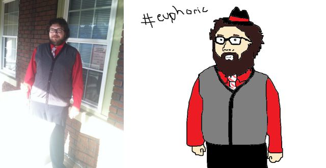 Humorous MS Paint Portraits of Twitter Followers