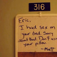 Funny College Roommate Notes  (41 pics)