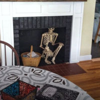 A Halloween Skeleton Is This Dad's Scary Year-Round Prank  (7 pics)