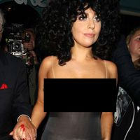 Lady Gaga Forgets Her Bra at Home on a Night Out in Belgium  (14 pics)