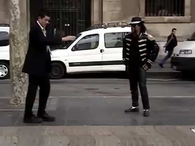Impromptu Dance-Off between Mormon Missionary and Michael Jackson Impersonator  (VIDEO)