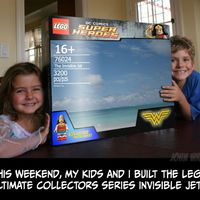 Family Builds an Invisible Lego Jet  (4 pics)