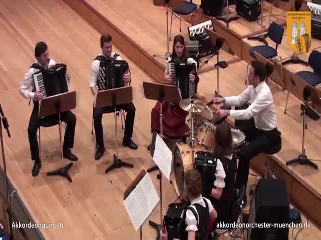 Sandstorm by Darude Played with Accordions  (VIDEO)