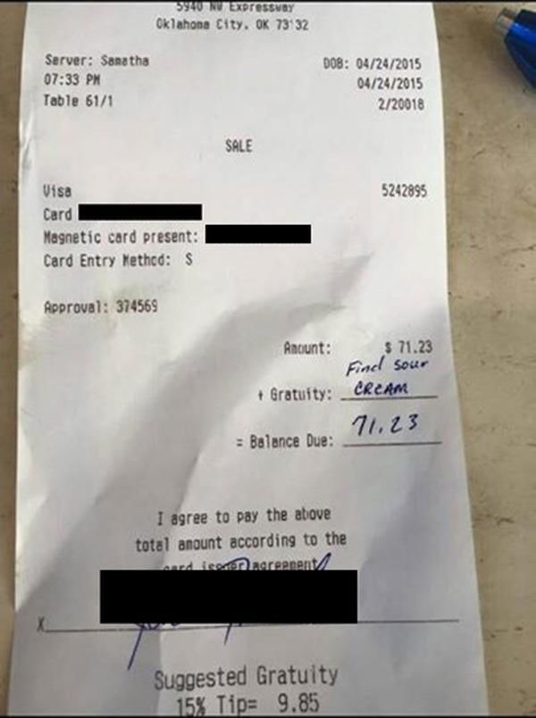 Rude Restaurant Goer Gets Served a Reality Check Online
