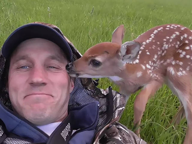 Man Rescues a Baby Deer and Has a Friend for Life