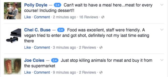 Restaurant Owner Gets into a Heated Online Battle with the Vegan Community