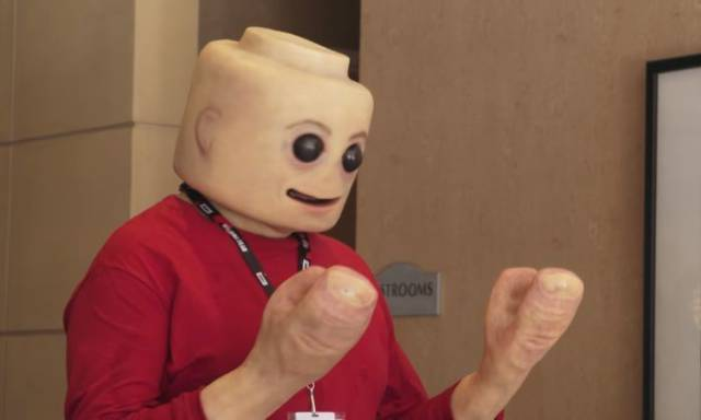 This Is The Freakiest LEGO Minifig Costume I've Ever Seen