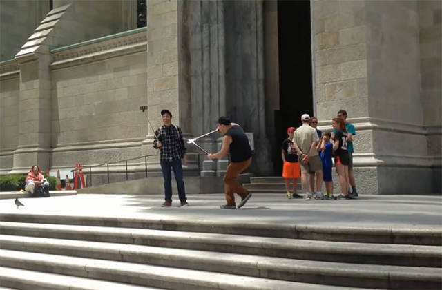 A Hero Or A Douchebag: Guy Runs Around New York City Cutting People's Selfie Sticks